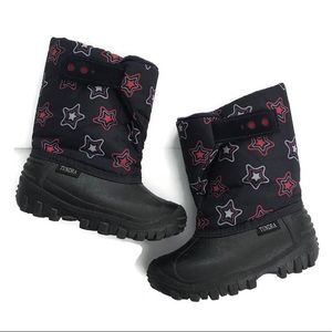 TUNDRA | Navy Snow Boots Red Blue White Stars